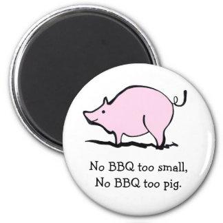 Pink Cartoon Pig 6 Cm Round Magnet