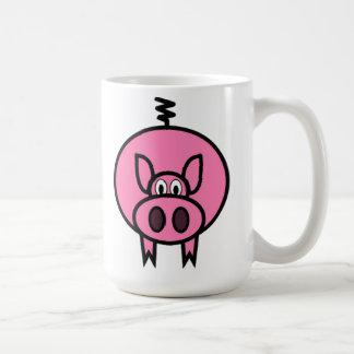 Pink Cartoon Pig Coffee Mug