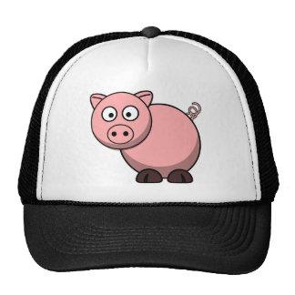 Pink cartoon Piggy Cap