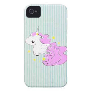 Pink cartoon unicorn stars BlackBerry Bold Case