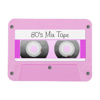 Pink Cassette Tape Flexible Magnets