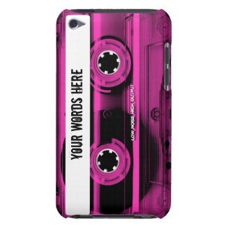 Pink Cassette Tape Personalized Barely There iPod Covers