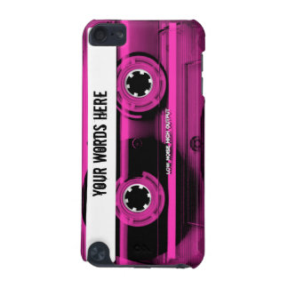 Pink Cassette Tape Personalized iPod Touch 5G Covers