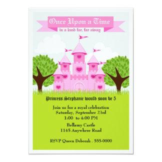 Pink Castle Princess Party 13 Cm X 18 Cm Invitation Card