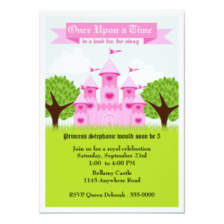 Pink Castle Princess Party Card