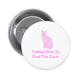 Pink Cat Pinback Buttons
