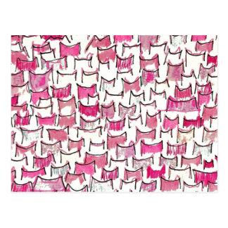 Pink Cat Ears Postcard