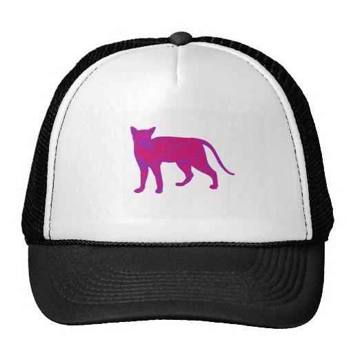 Pink Cat Mesh Hats
