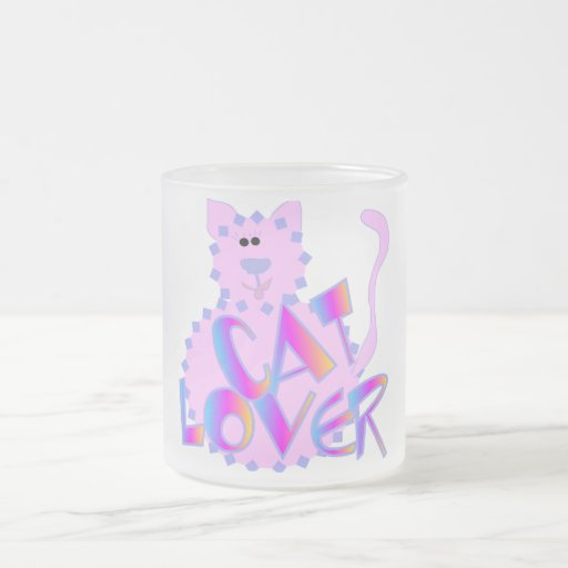 Pink Cat Lover Tshirts and Gifts Coffee Mugs