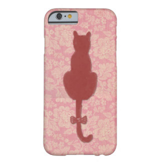 Pink Cat Silhouette Phone Case