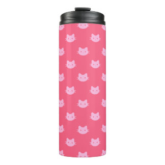 Pink Cat Thermal Tumbler