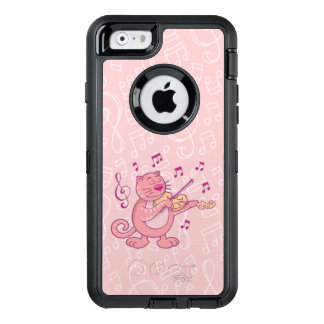 Pink Cat with Violin OtterBox iPhone 6/6s Case