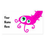 Pink Caterpillar Germ Business Card Templates
