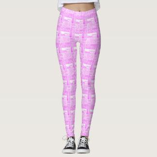 Pink ceramic tiles look leggings