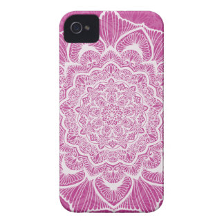 Pink Chakra Blossom, boho, new age, spiritual Case-Mate iPhone 4 Cases