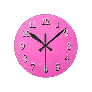 Pink Chalkboard Design Wall Clocks