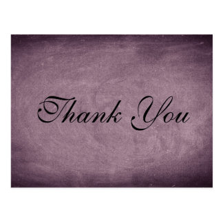 Pink Chalkboard Script font Thank You Card