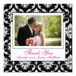 Pink Champagne Wedding Photo Thank You Stationery Personalised Invite
