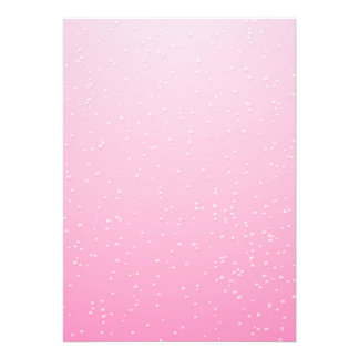Pink Champagne with Tiny Bubbles Background Art Personalized Invite