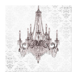 Pink Chandelier Canvas Print
