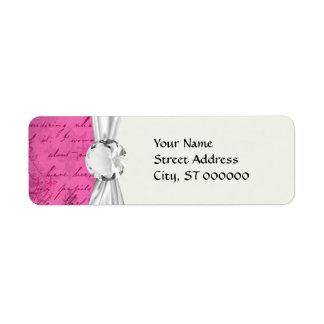 pink chandelier vintage writing background return address label