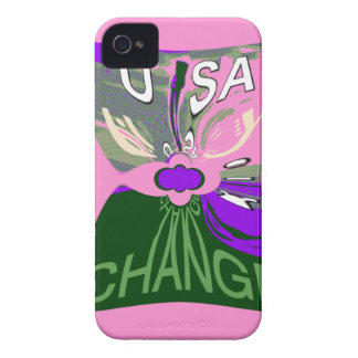 Pink Change  Hillary USA We Are Stronger Together. Case-Mate iPhone 4 Cases