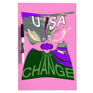 Pink Change  Hillary USA We Are Stronger Together. Dry-Erase Whiteboard