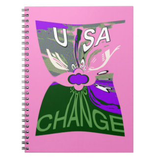 Pink Change  Hillary USA We Are Stronger Together. Notebook