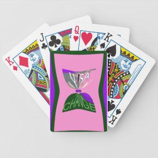 Pink Change  USA pattern design art Bicycle Playing Cards