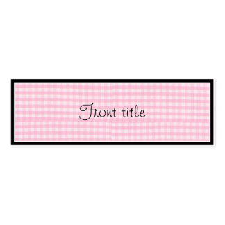 Pink Checkerboard Fabric Background Template Business Cards