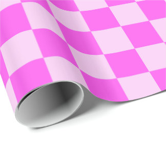 Pink Checkered Gift Wrap