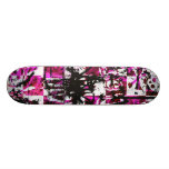 Pink Checkers 21.3 Cm Mini Skateboard Deck