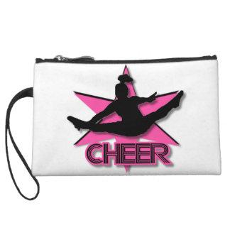 Pink Cheer Wristlet Purses