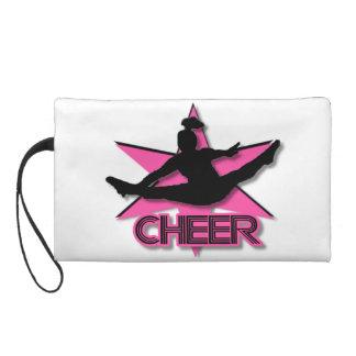 Pink Cheer Wristlet Clutches