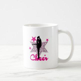 Pink cheerleader coffee mug