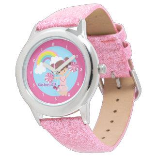 Pink Cheerleader Cute Custom Watch