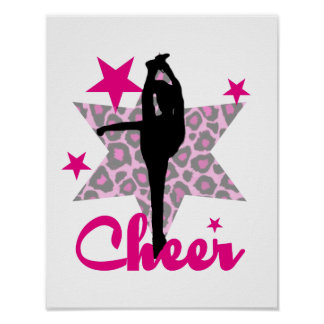 Pink Cheerleader Poster