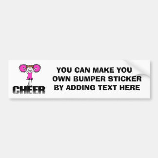 Pink Cheerleading T-shirts and Gifts Car Bumper Sticker