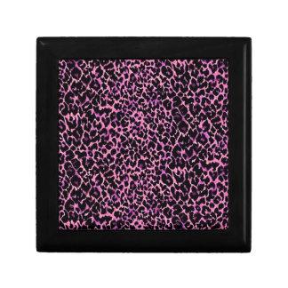 Pink Cheetah Pattern Gift Box