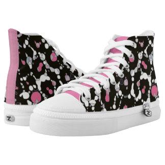 Pink Cheetah Print Womens Zip Shoes