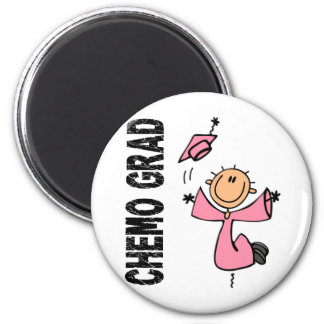 Pink CHEMO GRAD 1 (Breast Cancer) 6 Cm Round Magnet