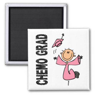 Pink CHEMO GRAD 1 (Breast Cancer) Square Magnet