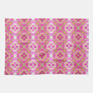 Pink Chequered Tea Towel