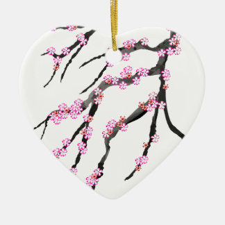 Pink Cherry Blossom 31, Tony Fernandes Ceramic Ornament