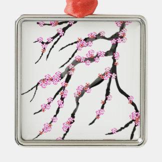 Pink Cherry Blossom 31, Tony Fernandes Metal Ornament