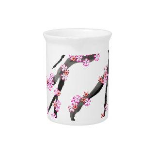 Pink Cherry Blossom 31, Tony Fernandes Pitcher