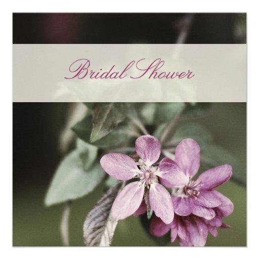 Pink Cherry Blossom Bridal Shower Invitation