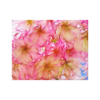 Pink cherry blossom canvas artwork stretched canvas print
