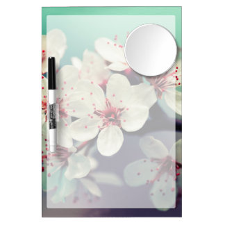 Pink Cherry Blossom, Cherryblossom, Sakura Dry Erase Board With Mirror