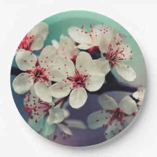 Pink Cherry Blossom, Cherryblossom, Sakura Paper Plate